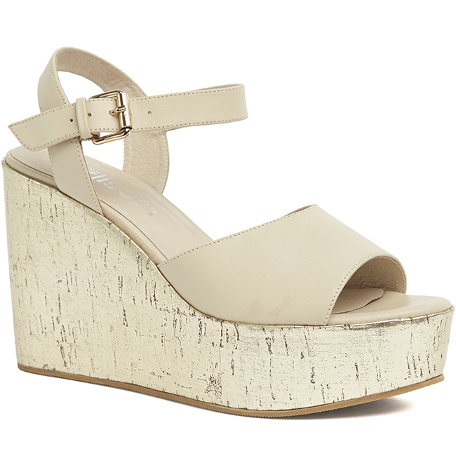 Miss Wilson    - Amanda Wedge  (Stone) Was $315 > Now  $125   Sizes Available: x1  37  x1  38  x1  39  x1  41