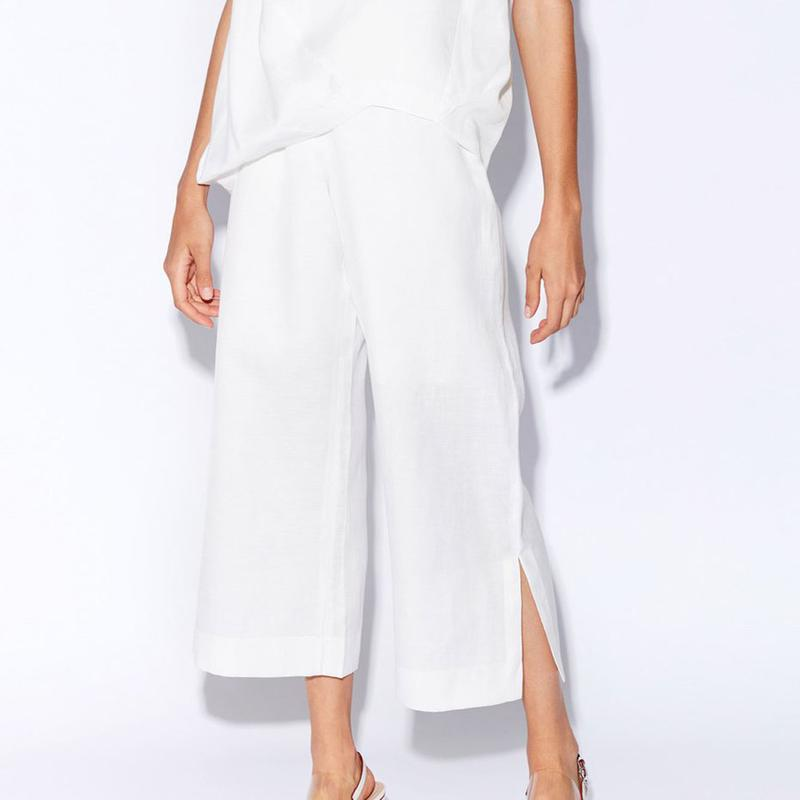 Pol - Ankle Split Pants (White)