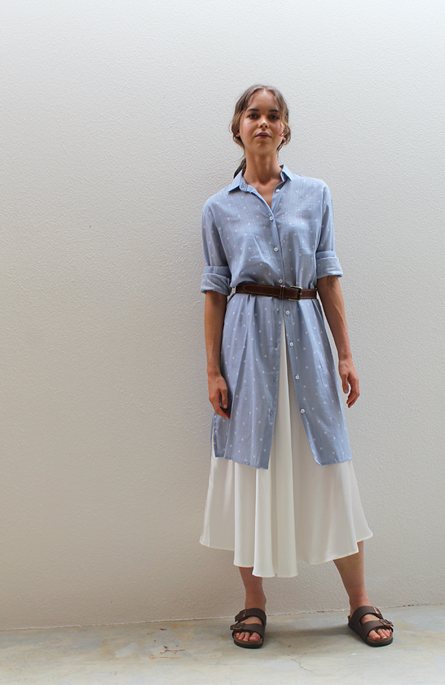 Staple + Cloth - Edition Shirt Dress (Blue Spot)