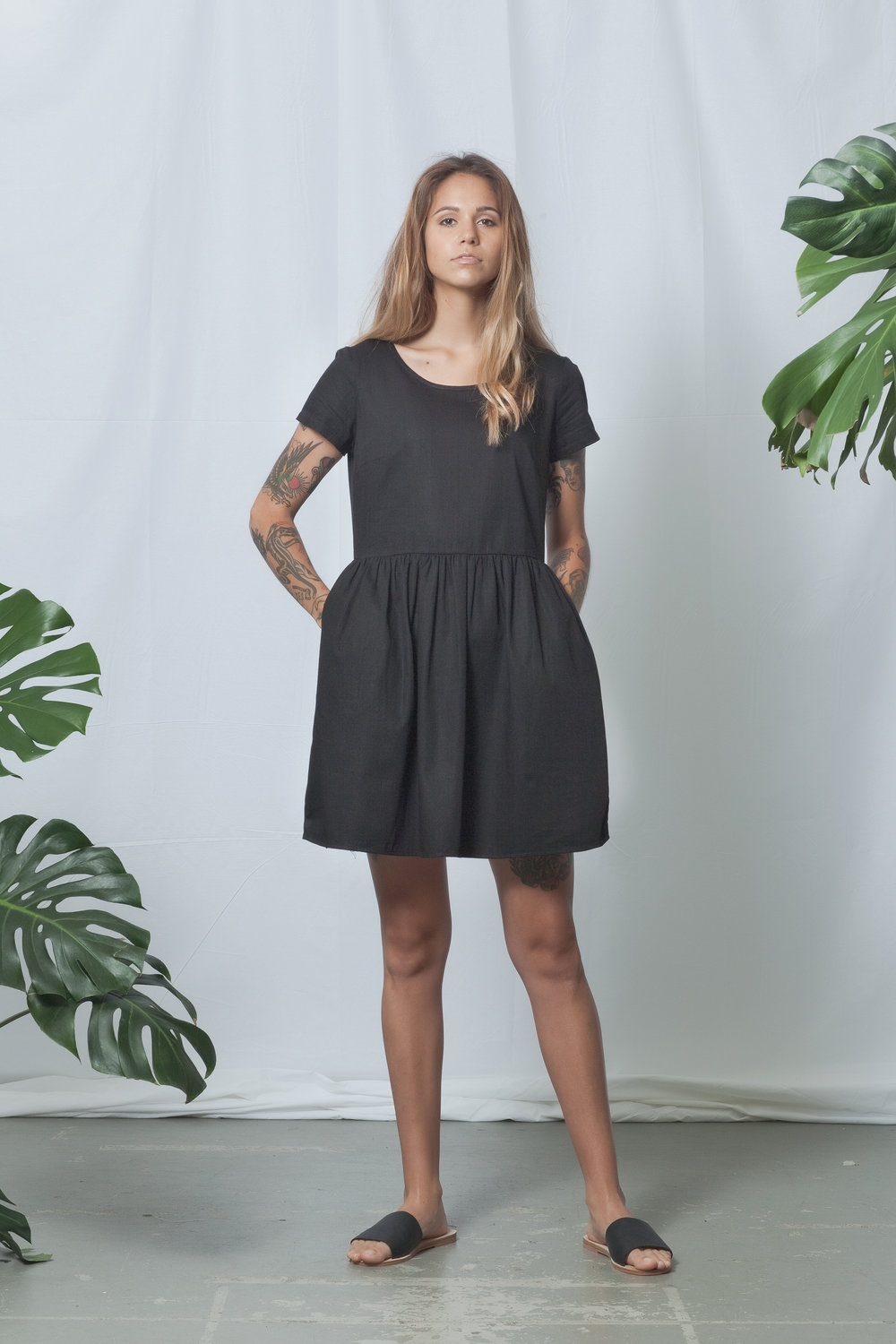 ReCreate - Annex Dress (Black Denim)