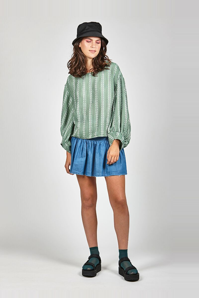 Leo + Be - Novel Top (Green)