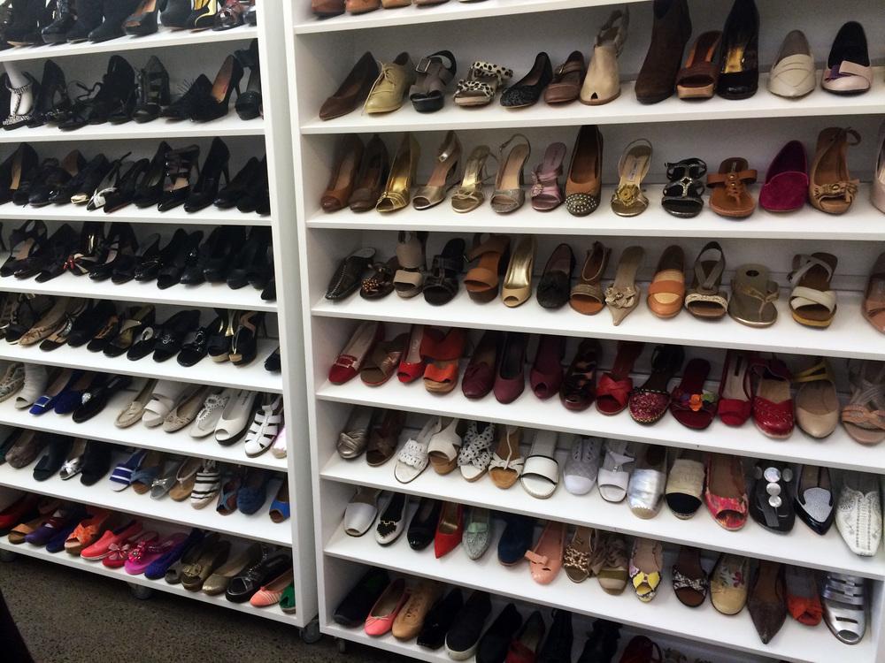 The shoe shelf...wow!