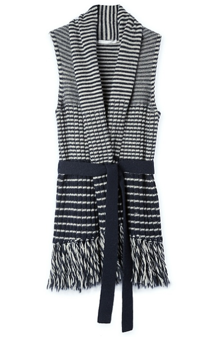 Trenery ' Ribbed Striped Knit Vest ' on sale, $64.90, sizes XS - XL