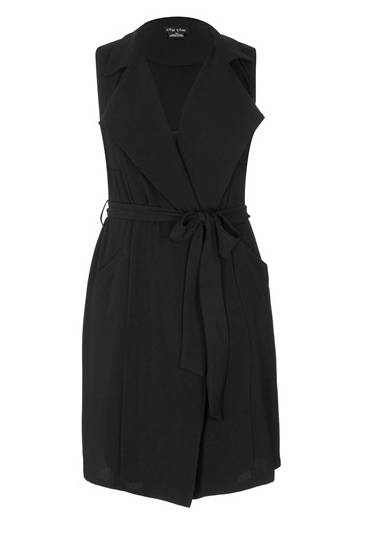 City Chic ' Sleeveless Trench ' on sale, $59.99, sizes XS-XXL.