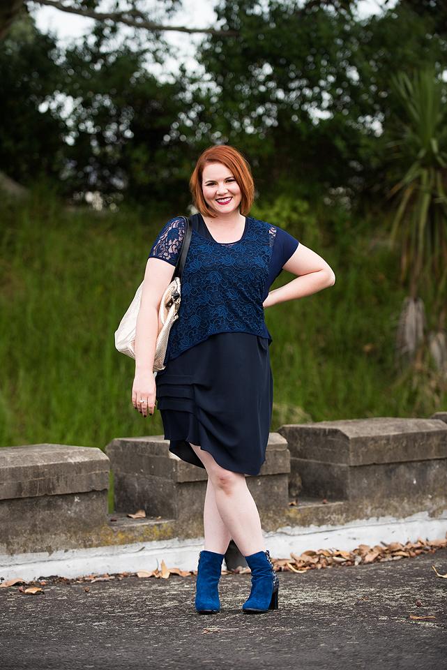 Blue lace, blue boots inbetweenie designer