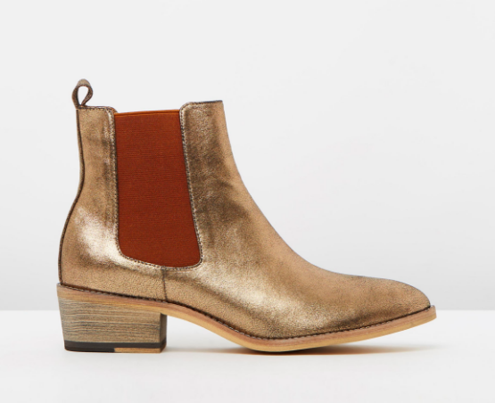 Gold Mollini boots Iconic