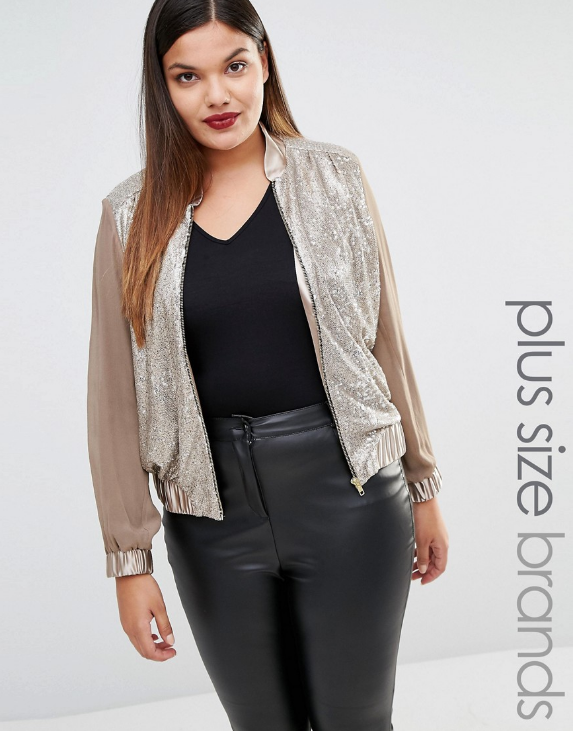 Elvi Sequinned Jacket Sizes 18-26