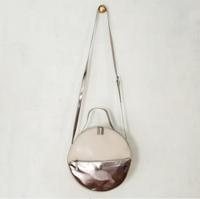Silver round bag