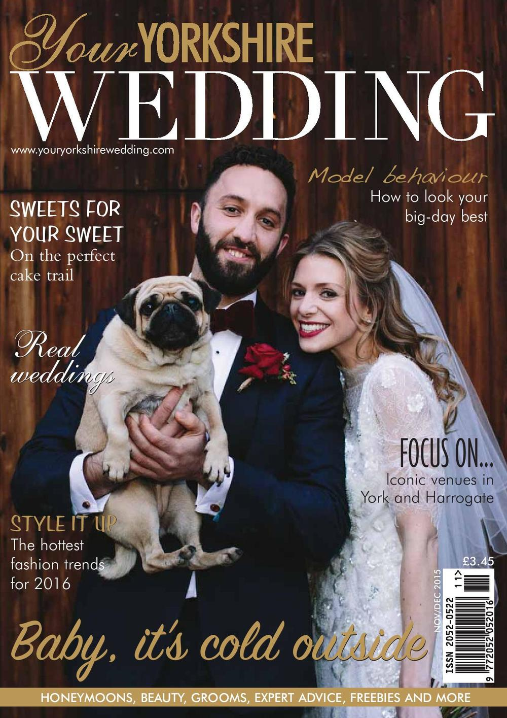 The Normans on the cover of Your Yorkshire Wedding magazine, Nov-Dec 2015 issue