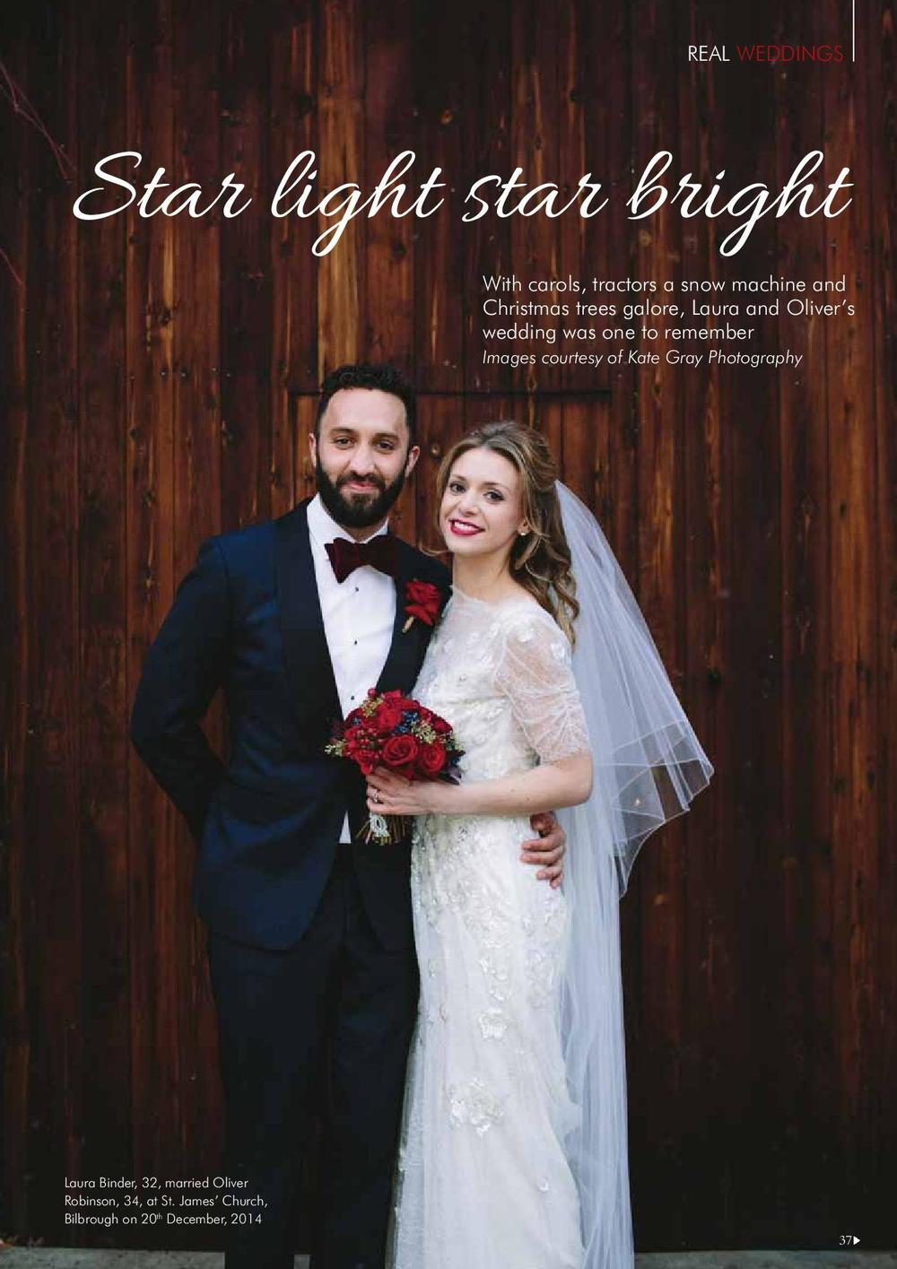 The Normans Weddings featured in Your Yorkshire Wedding magazine