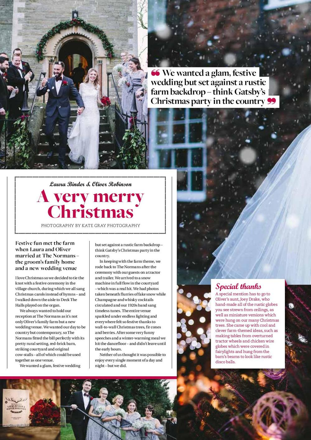 The Normans in Yorkshire Bride magazine