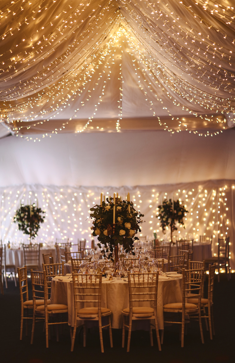 The stunning marquee at The Normans wedding venue. Image by www.lumiere-photographic.com