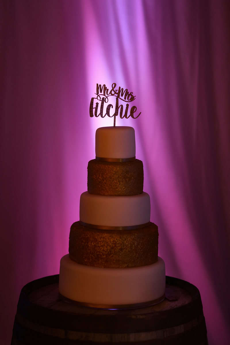 The cake at The Normans wedding venue. Image by www.lumiere-photographic.com