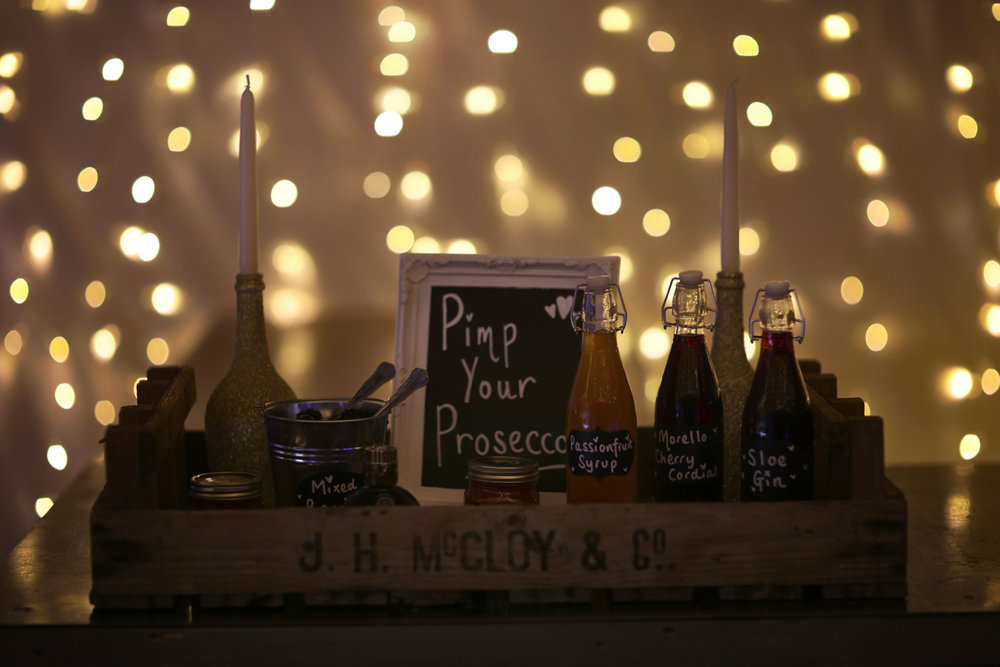 Pimpin prosecco at The Normans wedding venue. Image by www.lumiere-photographic.com