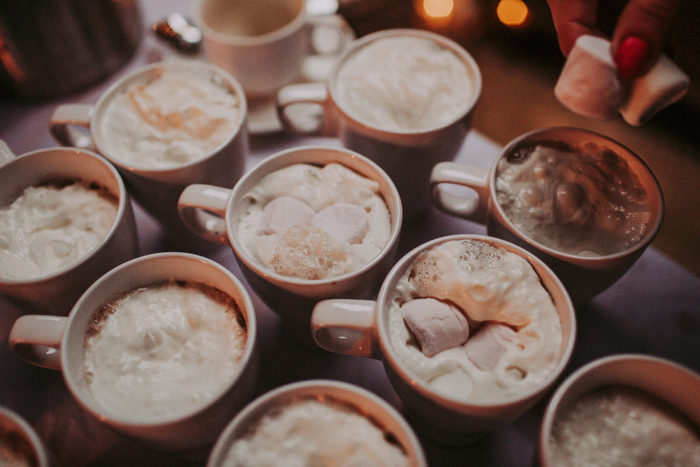 Hot Chocolate at The Normans. Photo by Bloom Weddings, www.bloomweddings.co.uk