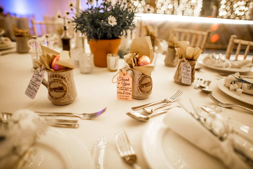 Personalised Favours at The Normans. Photo by www.inspirephotos.co.uk