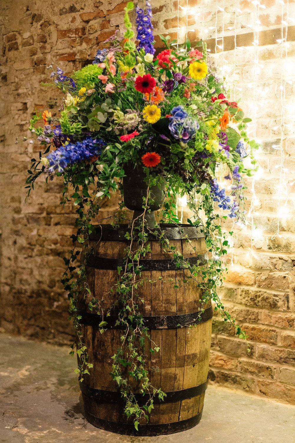 Bold Blooms in The Normans Barn. Photo by www.pauljosephphotography.co.uk