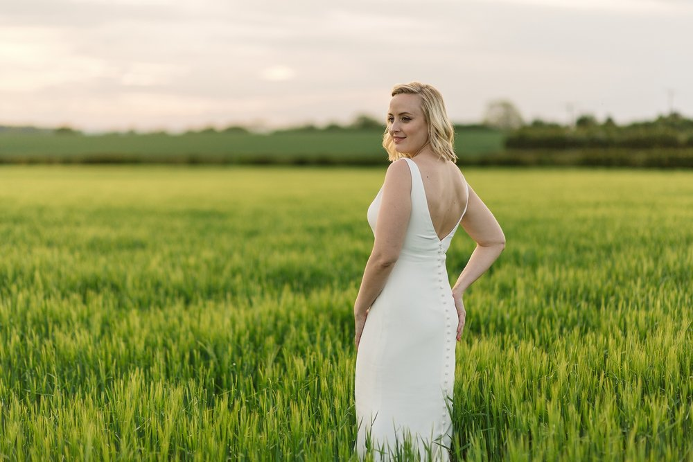 Betsy the Bride in The Normans farmland. Photo by www.pauljosephphotography.co.uk