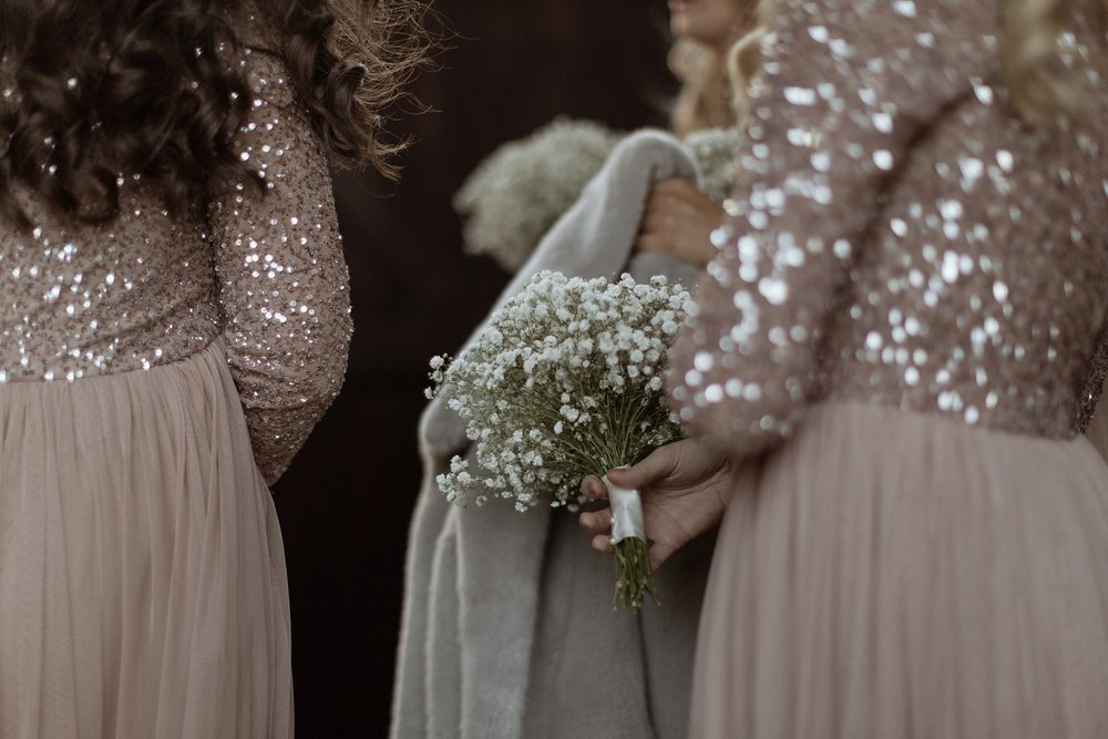 Babys Breath Posies at The Normans Photo by Luke Bell Photography