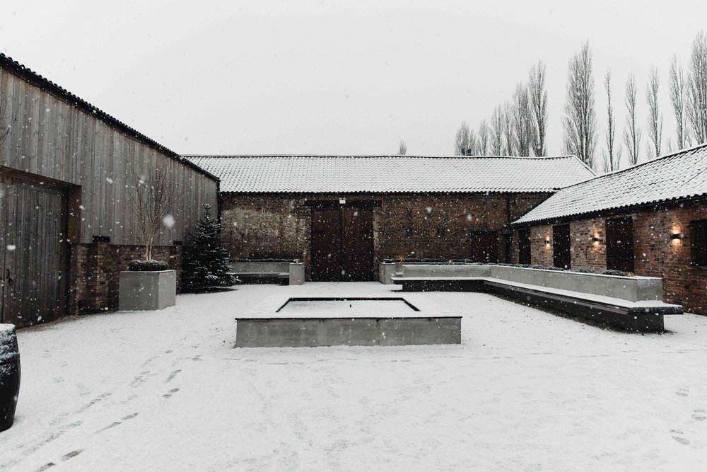 The Normans Courtyard in snow. Photo by www.alexandraholtphotography.com