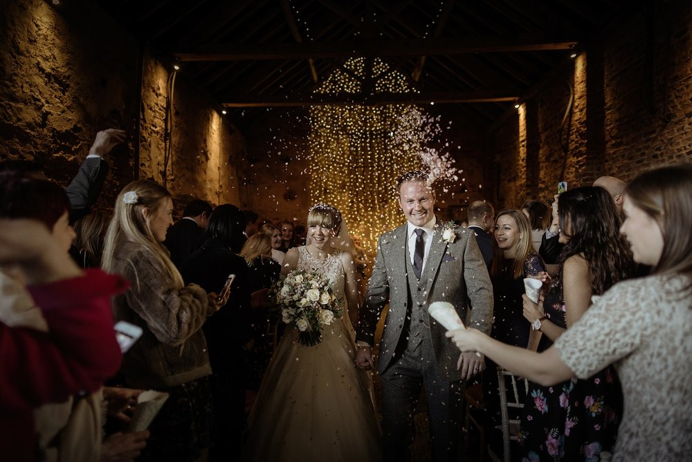 Confetti celebrations at The Normans Photo by Luke Bell
