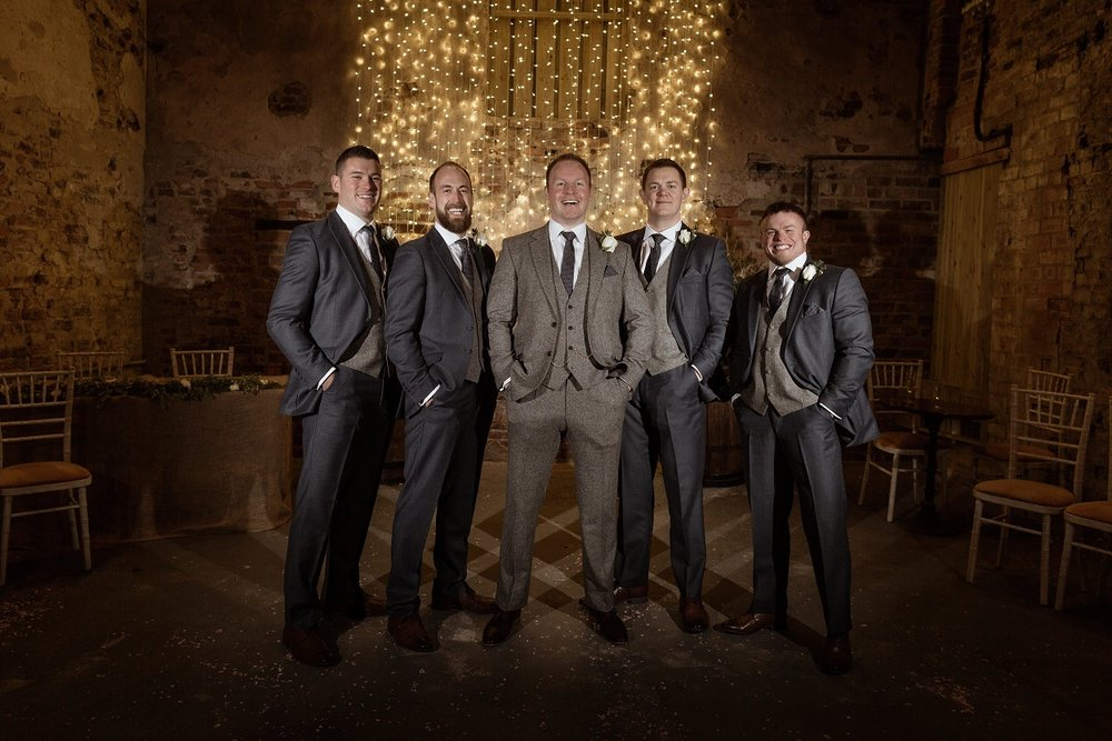 Groomsmen Goals at The Normans Photo by Luke Bell