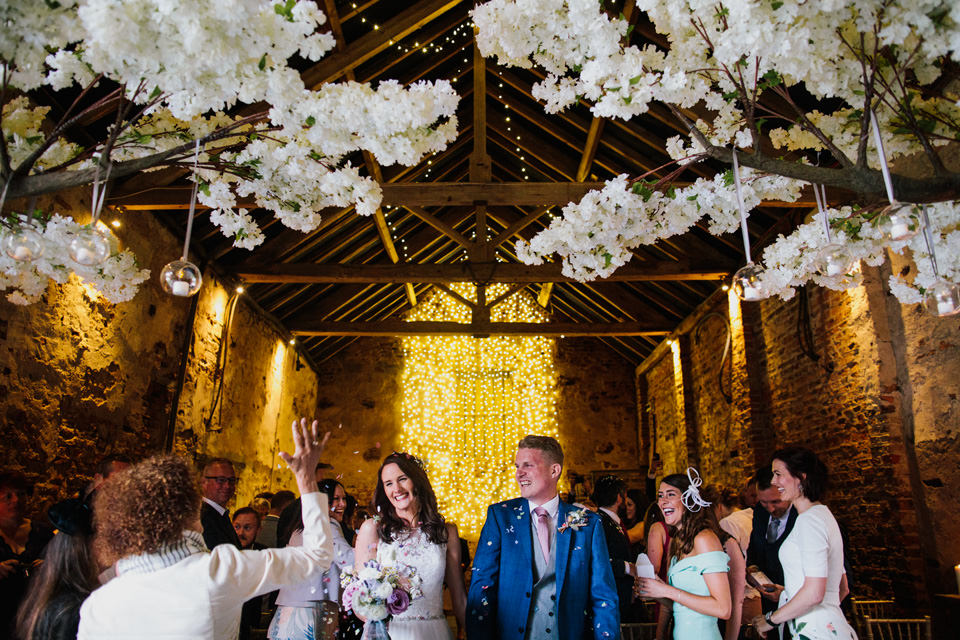 Confetti moments at The Normans Photo by CJ Rodgers Photography