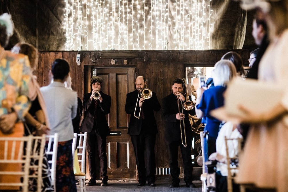 The New York Brass Band at The Normans Photo by www.throughthewoodsweran.co.uk