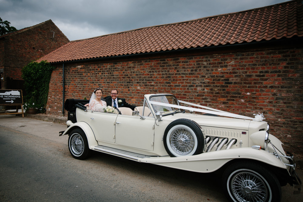 Just Married at The Normans Photo by www.wynndaviesphotography.com