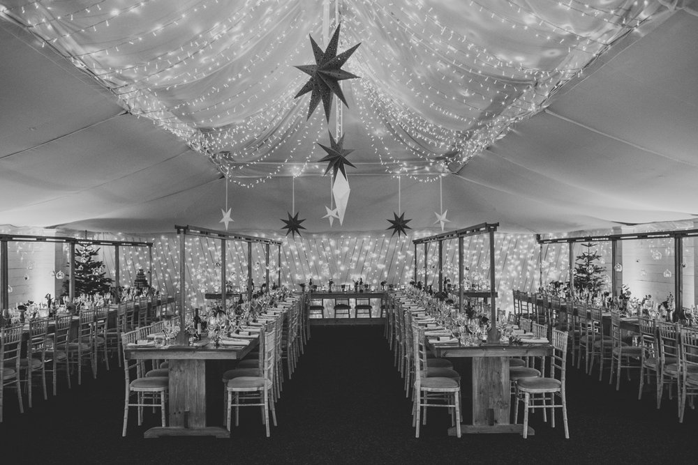 The Grain Shed ready for food, drink, and merriment. Photo by Bloom Weddings
