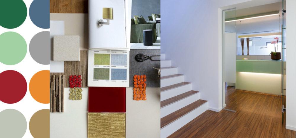 Farben-Analyse | Muster Collage | Umsetzung – Praxiseinrichtung