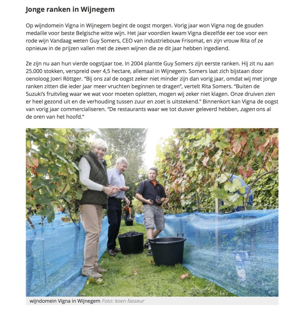 Artikel uit Gazet van Antwerpen van 21 september 2016