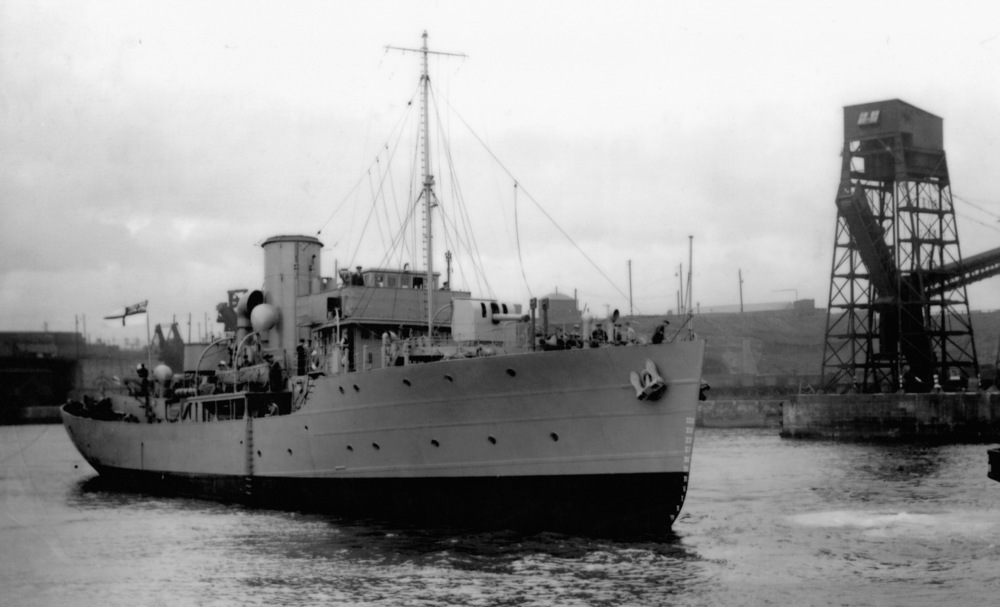 HMS Hollyhock (above) was built in 1940 by John Crown & Sons, Sunderland.