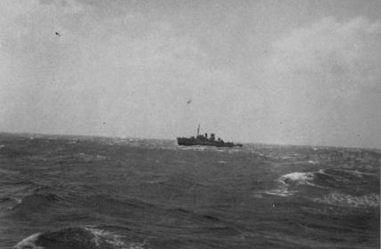 HMS Hollyhock at sea