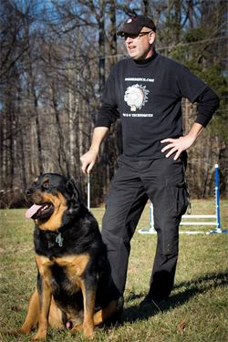 dOgBEDIENCE Dog Trainer & Behaviorist, Michael Peer and his best friend, Rogue