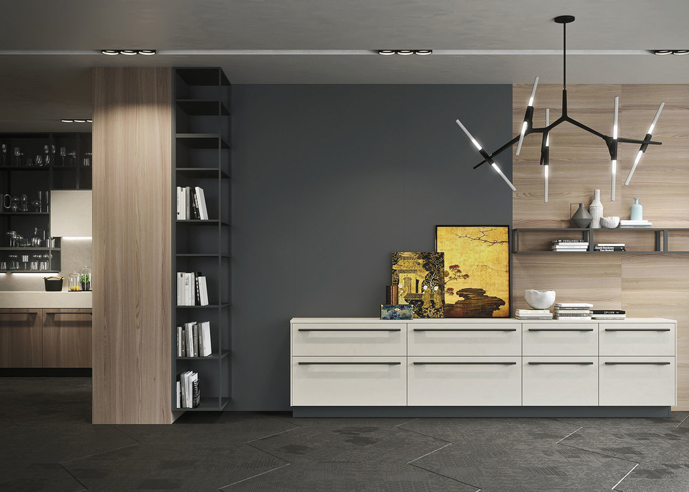 Modularity and the materials available allow sophisticated design solutions of the living area.