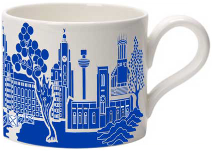Willow Pattern City mug