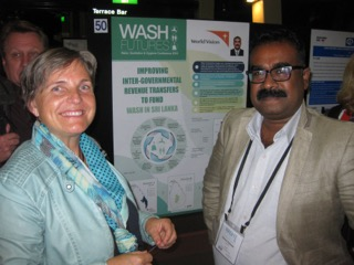Barbara Brezger discusses water with World Vision, Sri Lanka.