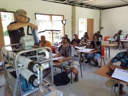 Martin Brezger teaching on desalination technology