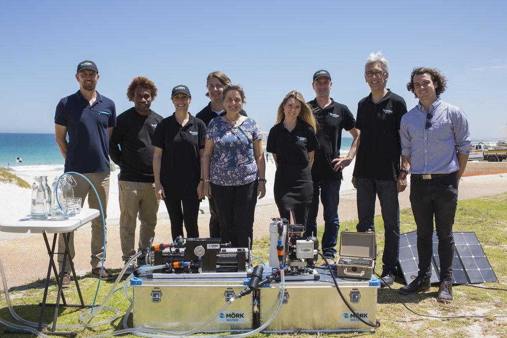 Moerk Water Perth Team at City Beach, Western Australia