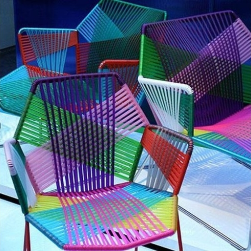 TROPICALIA CHAIRS BY PATRICIA URQUIOLA | £792 CARNIVAL COLOURED CHAIRS. OH YES.