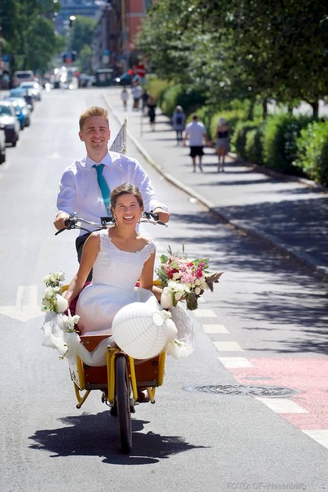 Eivind Trædal bød hele Norge på sin brud i ei sykkelkasse i sommer.