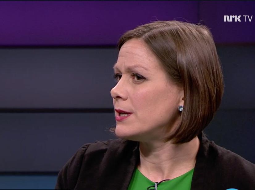 Hanna Elise Marcussen ble grillet på Debatten NRK i går.
