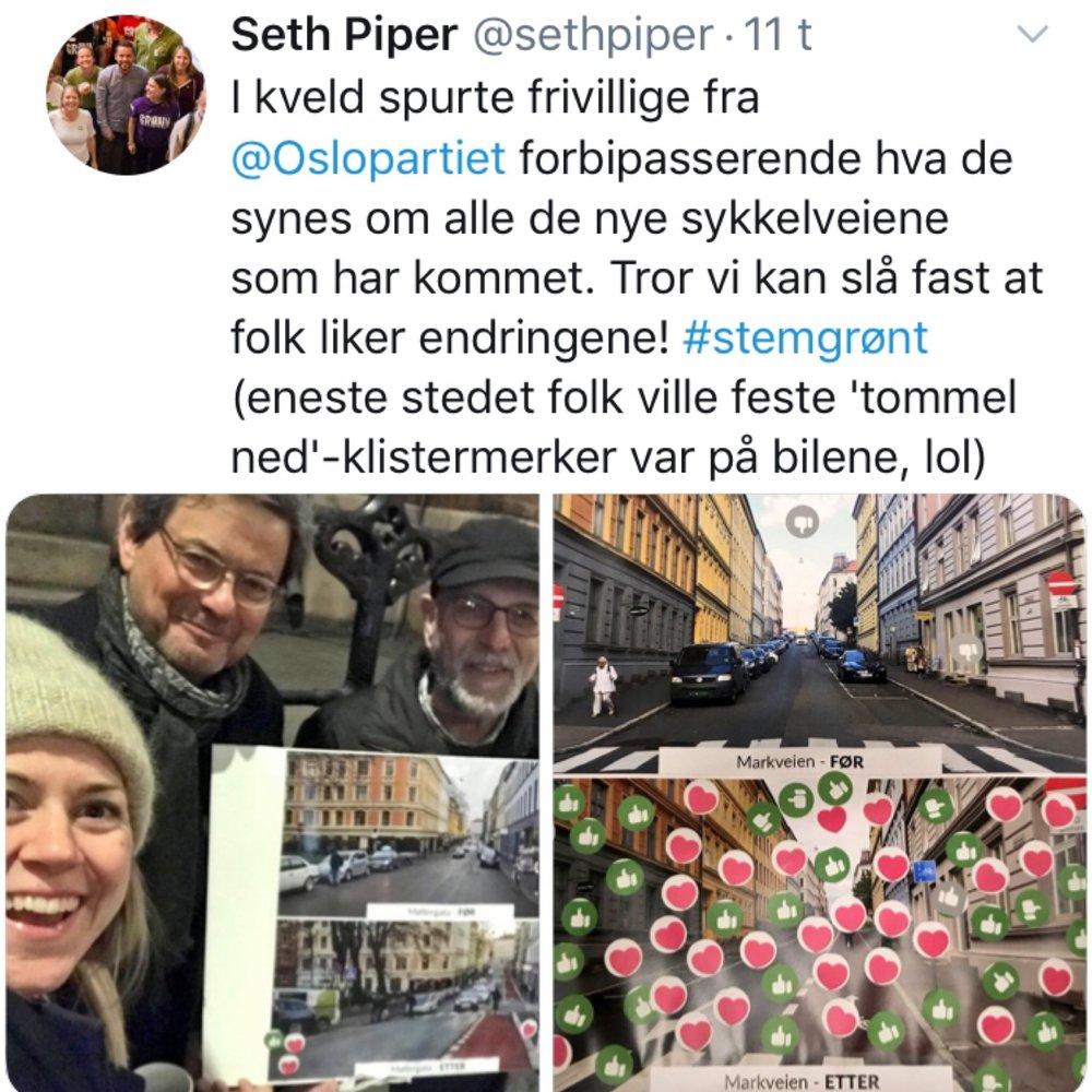 Seth Piper er sentral i MDG Oslo.