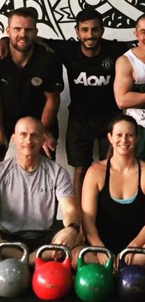 Steve Maxwell (next to Dani) training at Tribal Fitness.
