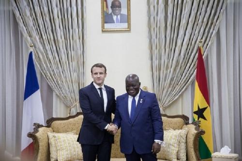 Image Source : President Emmanuel Macron and Nana Akufo-Addo