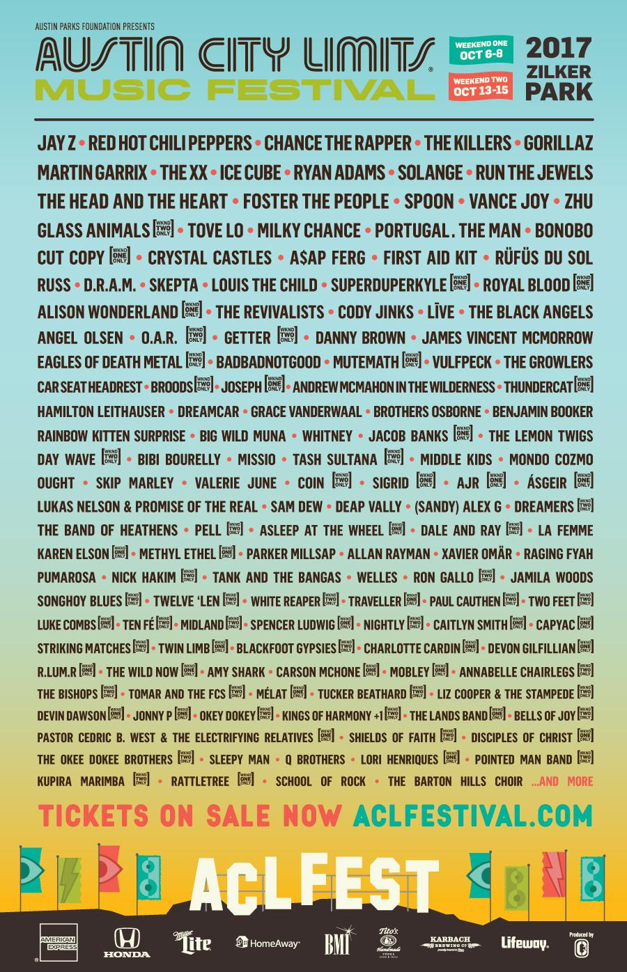 Austin City Limits Festival Lineup