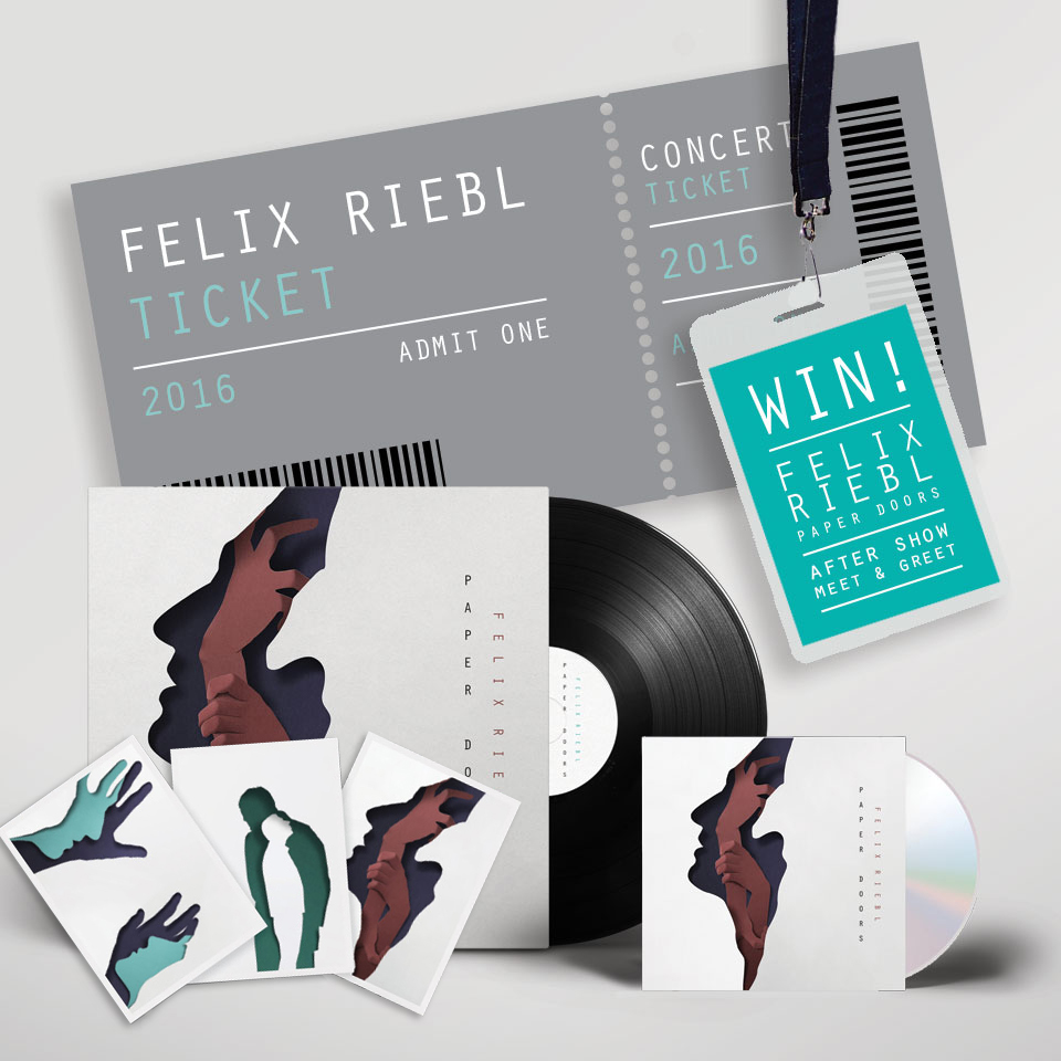 Sign-up   now  and you could win one of the 5 Special bundles we are offering.  Each bundle includes:   A double pass to the Paper Doors Album Show for each venues   + The new album 'Paper Doors' CD SIGNED by Felix,   + 3 free postcards featuring Eiko Ojala's world renowned illustrations   + An after-show meet and greet with Felix and his band    Competition closes on the Sun 28th of August 2016, winners will be announced on Mond 29th of August 2016