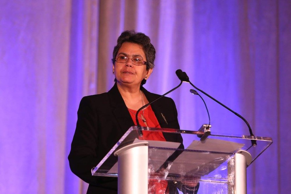 Gloria during her speech at Urban Pathways Gala 2016