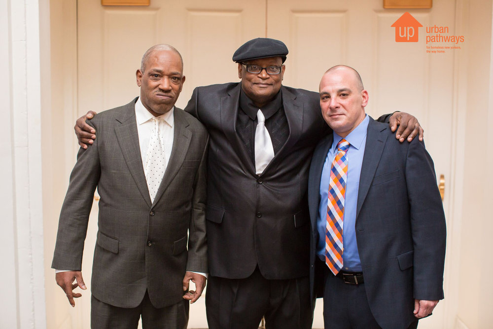 From left to right (Robert Offley, Johnathan Gilmore, and Daniel Kochanski) at Urban Pathways annual Gala.